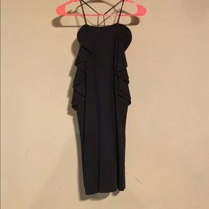 Black dress with ruffle